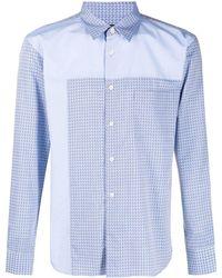 Comme des Garçons Полосатая Рубашка С Длинными Рукавами - Синий