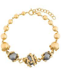 Kasun - Orb And Three Pearl Bracelet - Lyst