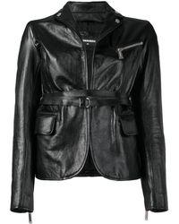 DSquared² Fitted Biker Jacket - Black
