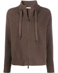 Peserico ドローストリング セーター - ブラウン