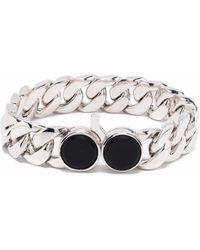 Tom Wood Inset-gemstone Chain-link Bracelet - Metallic
