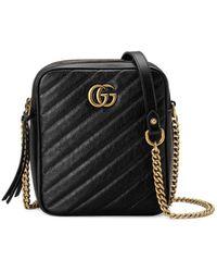 Gucci - GG Marmont Mini Shoulder Bag - Lyst