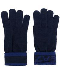EA7 - Logo Cuff Gloves - Lyst