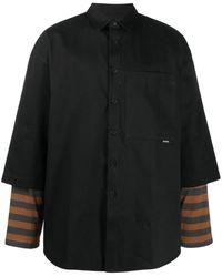 Sunnei クロップドスリーブ シャツジャケット - ブラック