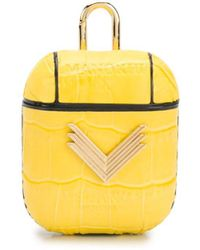 Manokhi X Velante Logo-plaque Airpods Case - Yellow
