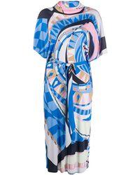 Emilio Pucci カウルネック ドレス - ブルー