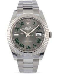 Rolex Reloj Oyster Perpetual Datejust de 41mm 2020 pre-owned - Gris