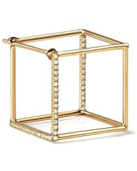 Shihara Diamond Square Earring 15 (02) - Естественный