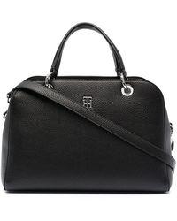 Tommy Hilfiger Essence Monogram Tote Bag - Black