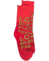 Doublet Socken mit Print - Rot