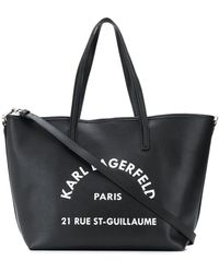 Karl Lagerfeld Rue St Guillaume ハンドバッグ - ブラック