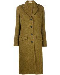 Massimo Alba Single-breasted Herringbone Coat - Green