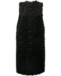 Comme des Garçons - Textured Floral Sleeveless Coat - Lyst