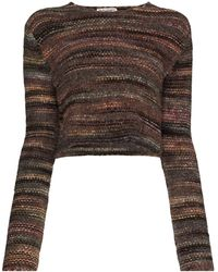 Our Legacy Cropped Fair Isle Knit Jumper - Brown