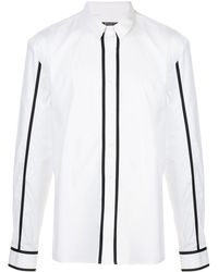 Balmain Chemise à bords rayés - Blanc