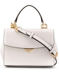 ecd03bc70612 Lyst - Michael Kors Ava Silver Saffiano Leather Xs Crossbody Bag in ...