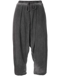 Lost and Found Rooms - Draped Cropped Trousers - Lyst