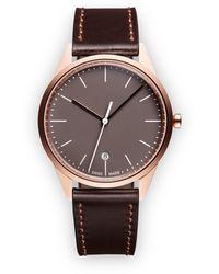 Uniform Wares C36 Datum Horloge - Bruin