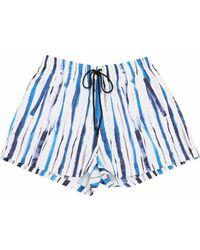Christopher Kane Striped cotton shorts - Blau