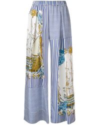 P.A.R.O.S.H. - Printed Palazzo Pants - Lyst