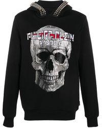 Philipp Plein Худи С Декором Skull - Черный