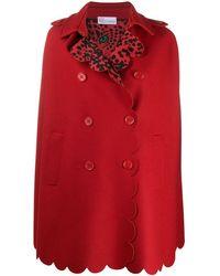 RED Valentino Кейп С Фестонами - Красный