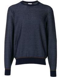 Brioni コントラスト スウェットシャツ - ブルー