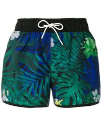 G-Star RAW - Foliage Print Swim Shorts - Lyst