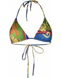 Versace - Haut de bikini à imprimé baroque - Lyst