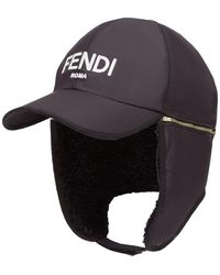 Fendi Бейсбольная Кепка С Логотипом - Черный