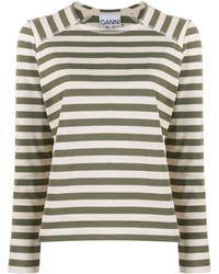 Ganni - ストライプ Tシャツ - Lyst