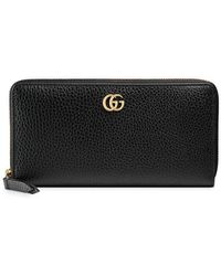 a7d0e0d5f929e4 Gucci Leather Zip Around Wallet With Ufo & Chinese Dragon in Black ...