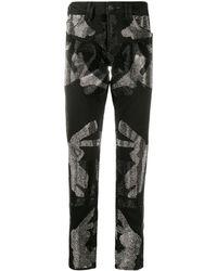 Philipp Plein Джинсы Camouflage Super Straight Cut - Черный