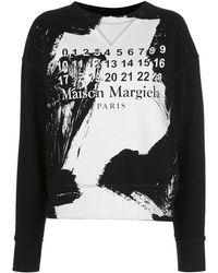 Maison Margiela ペイント スウェットシャツ - ブラック