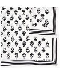 Alexander McQueen Skull Print Scarf - White