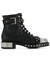 Alexander McQueen - Hobnail Ankle Boots - Lyst