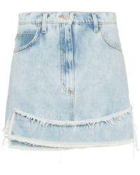 Natasha Zinko High-waisted Denim Mini Skirt - Blauw