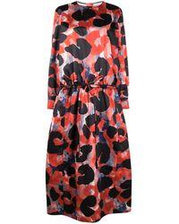 Marni Платье С Абстрактным Принтом - Красный