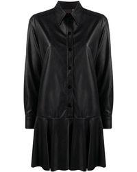 Blanca Vita Dropped-waist Shirt Dress - Black