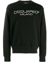 DSquared² Sweater Met Logoprint - Zwart
