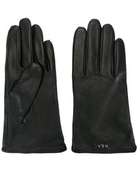 Lauren by Ralph Lauren - Logo Plaque Gloves - Lyst