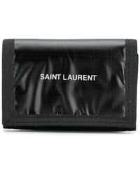 Saint Laurent - Logo Print Wallet - Lyst