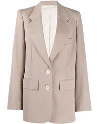 Lemaire オーバーサイズ シングルジャケット - ナチュラル