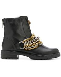 Kurt Geiger Stefan Chain-link Ankle Boots - Black