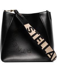 Stella McCartney Stella Crossbodytas Met Logo - Zwart