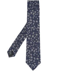 Gieves & Hawkes Embroidered Tie - Blue