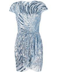 Zuhair Murad スパンコール ドレス - ブルー