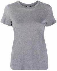 A.P.C. T-shirt a girocollo Poppy - Grigio