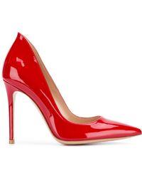 Gianvito Rossi Varnished Pointed Pumps - Красный