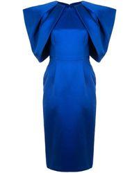 Saiid Kobeisy プリーツ ドレス - ブルー